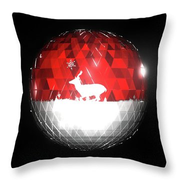 Deer Bauble - Frame 103 Throw Pillow