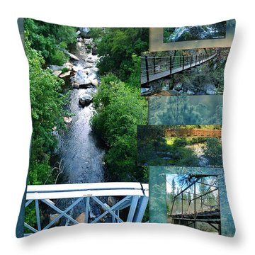 Deer Creek Bridges Throw Pillow