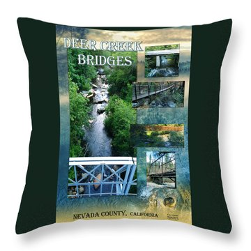 Deer Creek Bridges Throw Pillow