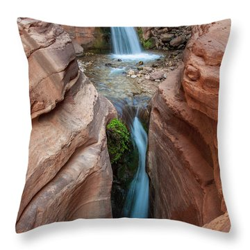 Deer Creek Double Waterfall Throw Pillow