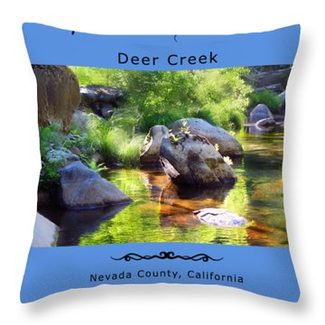 Deer Creek Ferns Throw Pillow