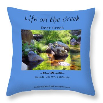 Deer Creek Ferns Throw Pillow