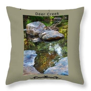 Deer Creek Point Throw Pillow