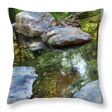 Deer Creek Point Print Throw Pillow