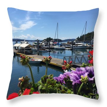 Deer Harbor By Day Throw Pillow