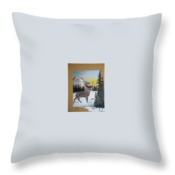 Deer Hunter's Dream Throw Pillow by Al  Johannessen