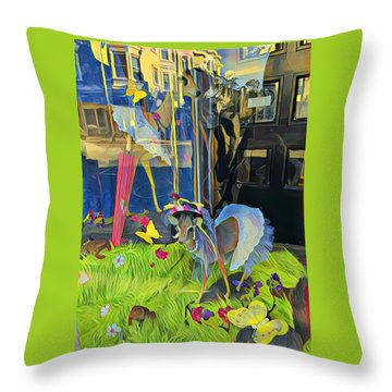 Deer In Headlights Throw Pillow