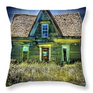 Deer Isle Haunted House Throw Pillow