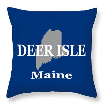 Throw Pillow featuring the photograph Deer Isle Maine State City And Town Pride  by Keith Webber Jr