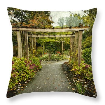 Fall In The Garden At Deer Lake Throw Pillow