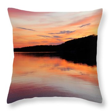 Deer Lake Sunset 1 Throw Pillow