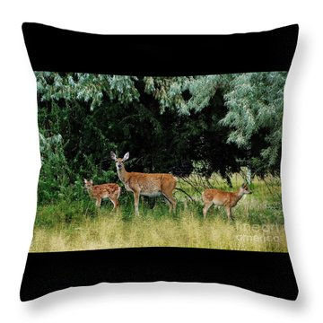 Deer Mom Throw Pillow