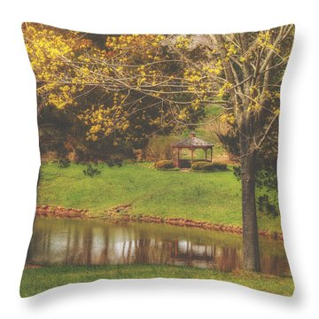Deer Path Park Gazebo 2015 Throw Pillow