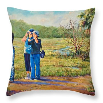 Deer Watching Throw Pillow