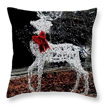 Deer Winter Throw Pillow