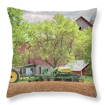 Deere On The Farm Throw Pillow
