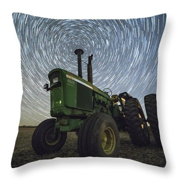 Throw Pillow featuring the photograph Deere Trails  by Aaron J Groen
