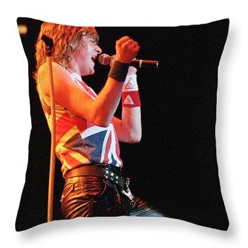 Def Leppard '83 Throw Pillow by Chris Deutsch