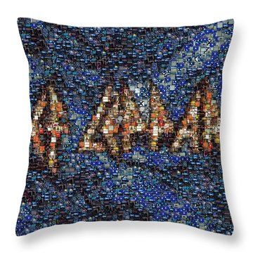 Def Leppard Albums Mosaic Throw Pillow