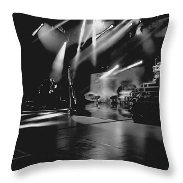 Def Leppard At Saratoga Springs 2 Throw Pillow by David Patterson