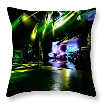 Def Leppard At Saratoga Springs 4 Throw Pillow by David Patterson