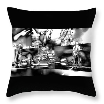 Def Leppard At Saratoga Springs 6 Throw Pillow by David Patterson