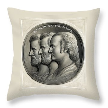 Defender Martyr Father Throw Pillow