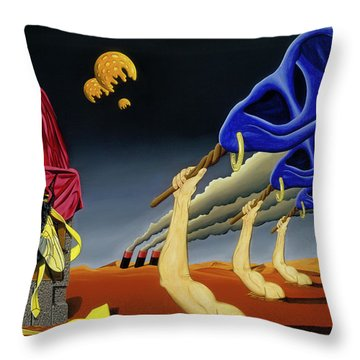 Defending Steinbeck's Pride Throw Pillow
