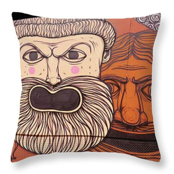 Defiant Graffitti Throw Pillow