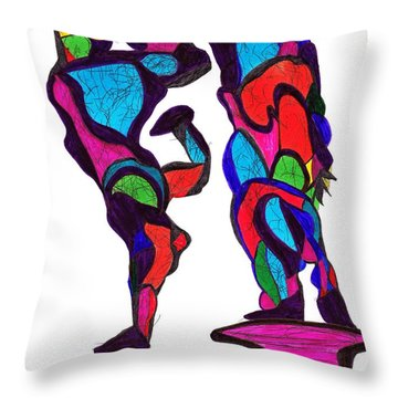 Definism Dance Throw Pillow