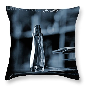Definition Of Beauty Blue Throw Pillow