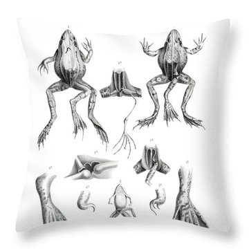 Deformed Frogs Throw Pillow
