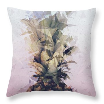 Defragmented Pineapple Throw Pillow