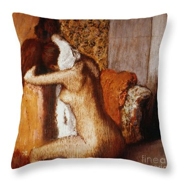 Degas: After The Bath Throw Pillow by Granger