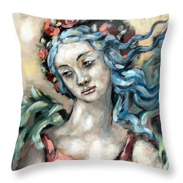 Degas Angel Throw Pillow by Carrie Joy Byrnes