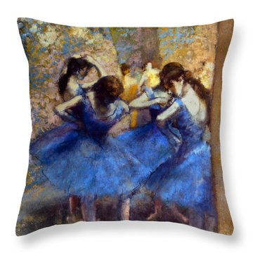 Degas: Blue Dancers, C1890 Throw Pillow by Granger