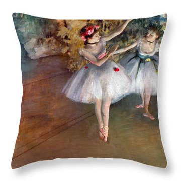 Degas: Dancers, C1877 Throw Pillow