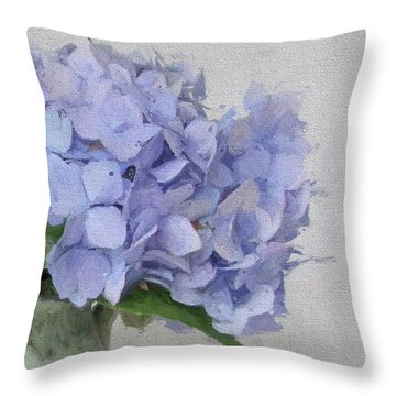 Degas Hydrangea Throw Pillow