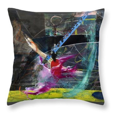 Degenerate Art Throw Pillow by Antonio Ortiz