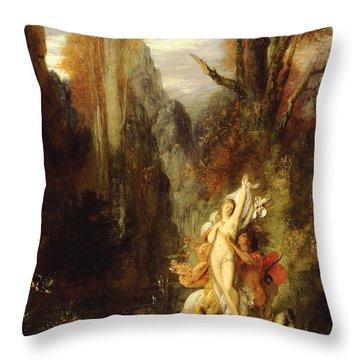 Dejanira  Autumn Throw Pillow by Gustave Moreau