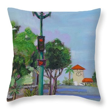 Del Mar And Ole Vista Throw Pillow