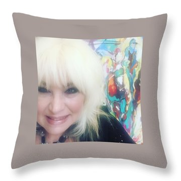 Del Mar Artist Throw Pillow by Heather Roddy