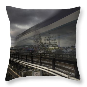 Del Mar Train Throw Pillow