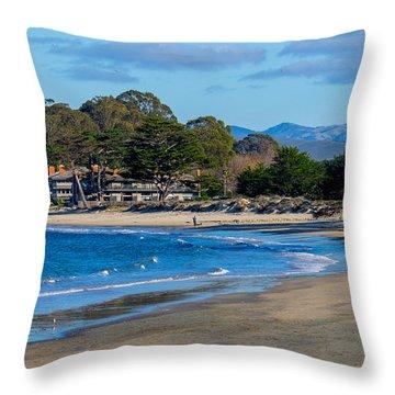 Del Monte Beach Throw Pillow