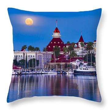 Del Moonset Throw Pillow