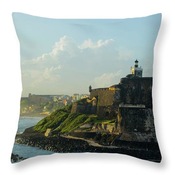 del Morro Sunrise Throw Pillow