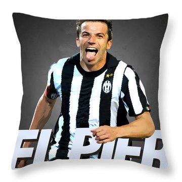 Del Piero Throw Pillow
