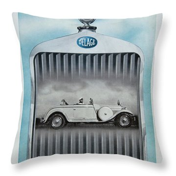 Delage #8712 Throw Pillow