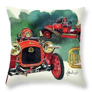 Delahaye 43hp Fire Engine  Throw Pillow