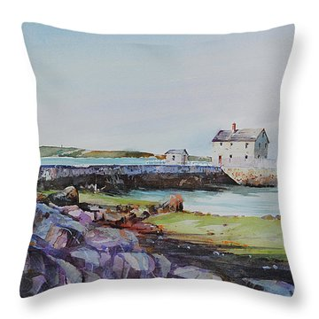Delano's Wharf At Rock Nook Throw Pillow